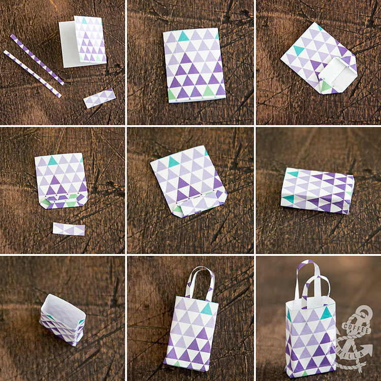 miniature shopping bags for doll house 1/12 scale