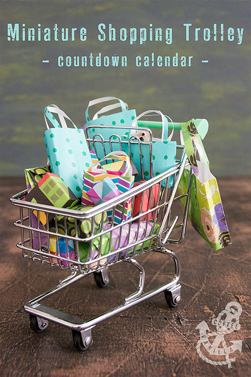 miniature shopping trolley crafts