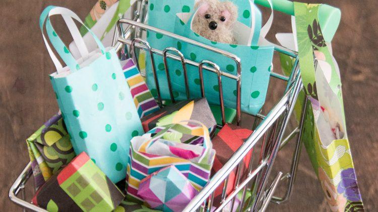Miniature Shopping Trolley – New Year Countdown Calendar
