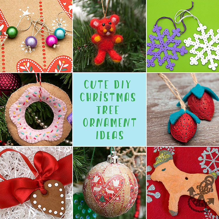 easy cute Christmas tree ornaments for kids