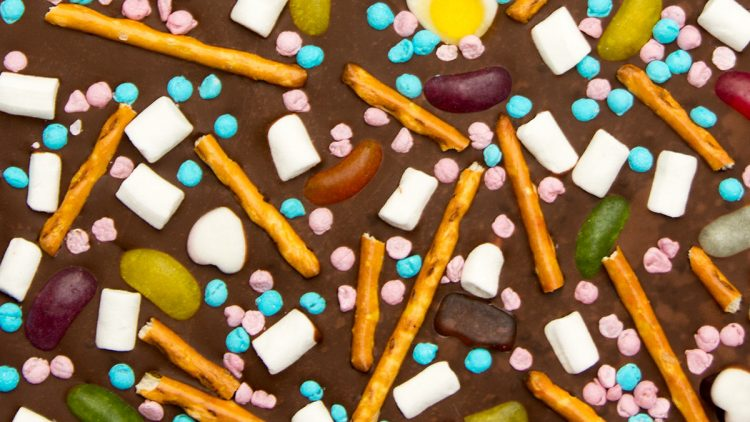 Chocolate Bark with Leftover Sweets
