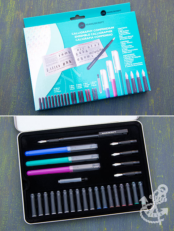 calligraphy set with book