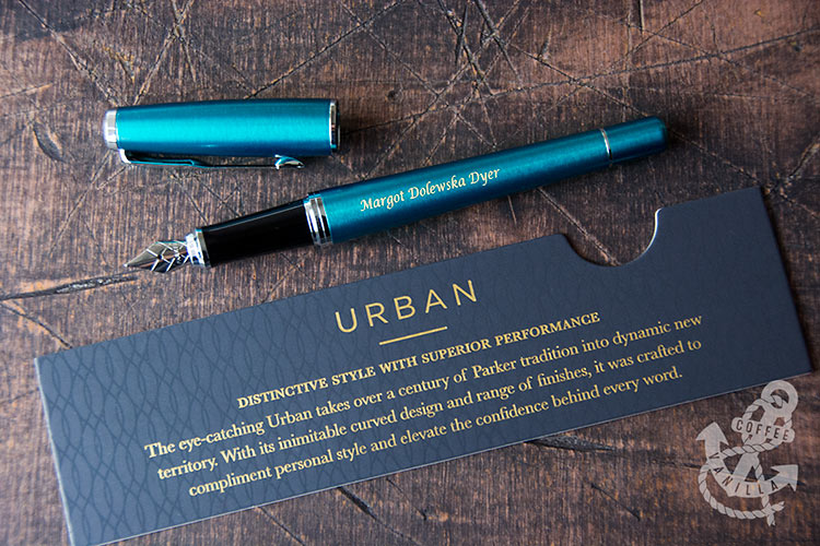 personalised Parker fountain pen