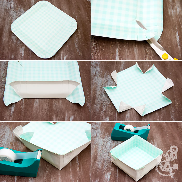 paper plate boxes tutorial