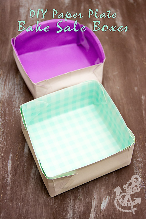 how to make boxes out of paper plates