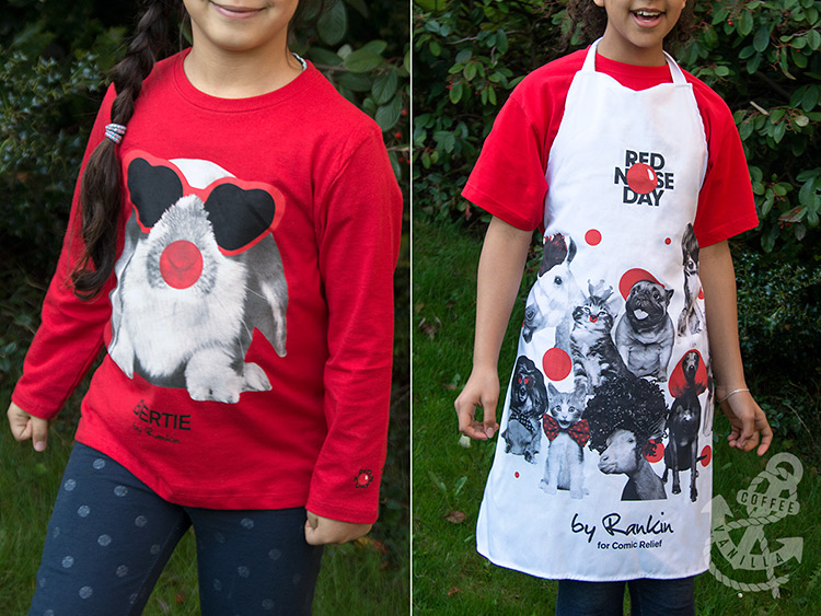 Red Nose Day shirt and apron