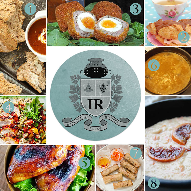 collection of inherited recipes from all over the globe