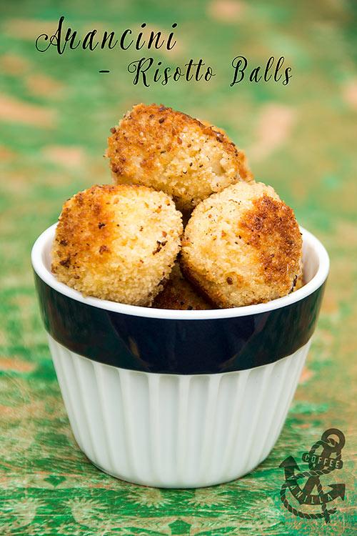 Italian Sicilian rice balls risotto balls