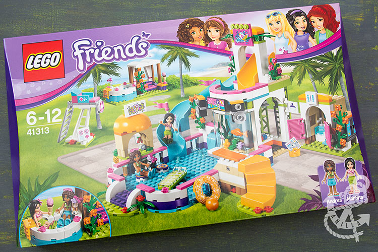 Lego Friends set with swimming pool