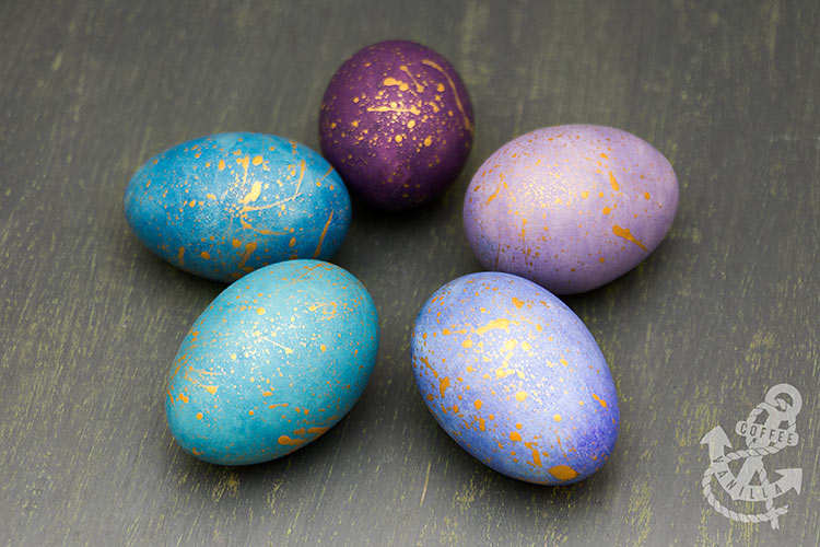 watercolour Easter crafts DIY decorated Easter eggs
