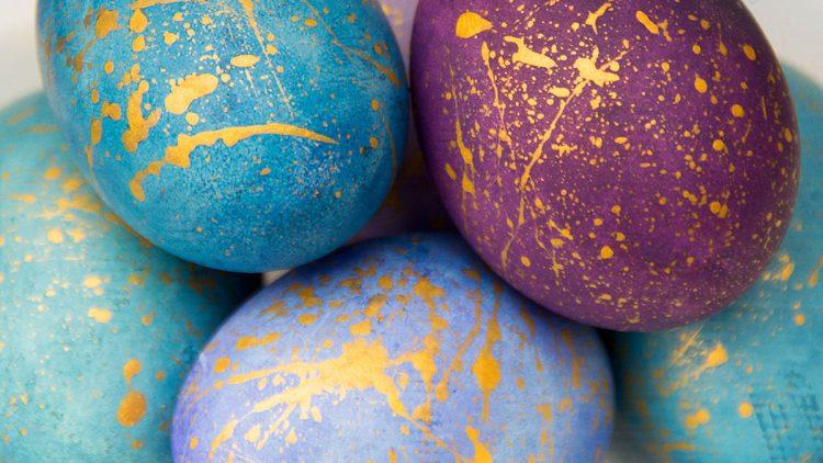 Watercolour Galaxy Eggs