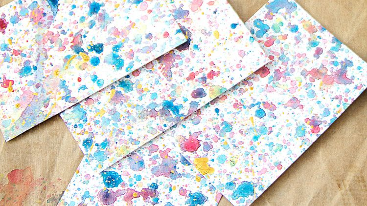 Colourful Watercolour Splash Gift Tags & Note Cards