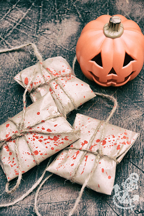 parcels for trick-or-treaters