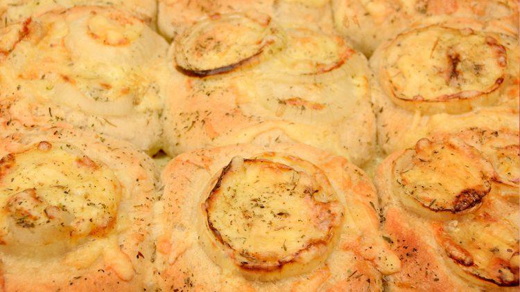 Focaccia Style Cheesy Onion Breads