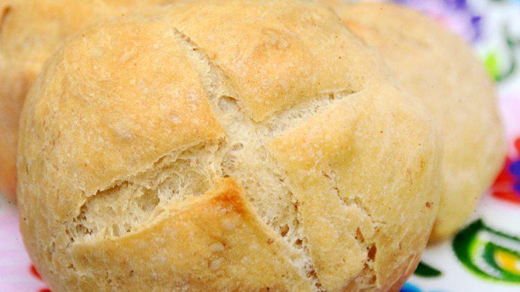 Kajzerki / Kaiser Rolls – Extremely Easy No Knead Homemade Yeast Bread Rolls