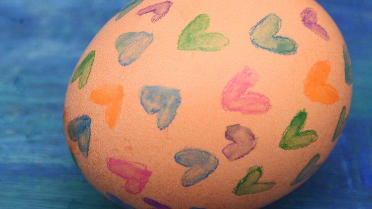 Last Minute Watercolour Easter Eggs