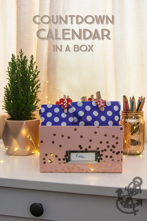 blush pink box with rose gold dots